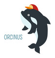 orcinus in cap cartoon childish book character vector image vector image