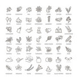 outline set condiment icons vector image