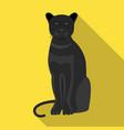 panther predatory animal pantera wild cat vector image vector image