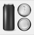 realistic 3d empty glossy metal black vector image vector image