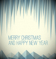 Retro minimalistic Christmas card vector image vector image