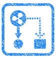 ripple cashflow framed stamp vector image vector image