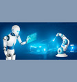 robotized workforce realistic concept vector image