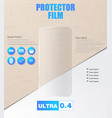 screen protector film or glass cover vector image vector image