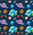 seamless pattern planets and space vector image