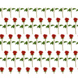 seamless pattern red roses vector image vector image