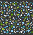 seamless pattern with multicolored stars on dark vector image vector image