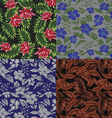 Seamless Tropical Print Set vector image vector image