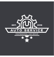 Service auto repair wrench logo sign flat vector image vector image