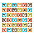 set emotional icons vector image vector image