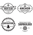 set of sea and nautical typography badges and vector image vector image