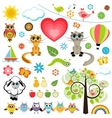 Set of Spring elements vector image vector image