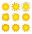 set of sun icons spring summer autumn winter vector image