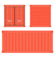 shipping freight container red intermodal vector image