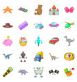 sideshow toy icons set cartoon style vector image vector image