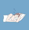 sleep rest dream concept vector image