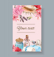 Spa treatment banner vector image vector image