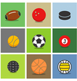 Sport ball silhouettes color collection vector image vector image