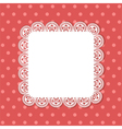 square lace border background vector image
