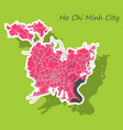 sticker ho chi minh city administrative map vector image vector image