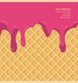 sweet colour glaze on wafer texture food vector image