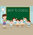 teacher pupil back to school vector image vector image