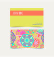 template business cards with oriental islamic vector image vector image