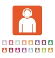 The call center icon Support symbol Flat vector image vector image