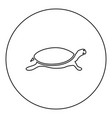 tortoise turtle icon black color in round circle vector image vector image
