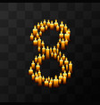 tribulation numbers 8 of candles vector image