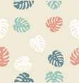 tropical palm leaves endless background vector image