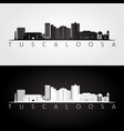 tuscaloosa usa skyline and landmarks silhouette vector image