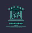 web banking for cryptocurrency global digital vector image