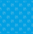 wedding pattern seamless blue vector image vector image