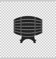 wooden barrel on rack icon isolated vector image vector image