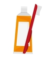 yellow toothpaste icon vector image