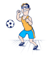 football player character vector image