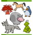 animals cartoon characters set vector image