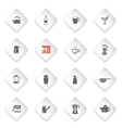 Utensils simply icons vector image