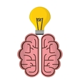 brain idea creative solution concept vector image vector image