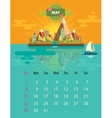Calendar of may vector image
