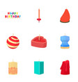 candle forms icons set cartoon style vector image vector image