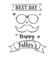 card for father day celebration vector image vector image