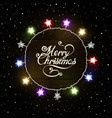 christmas greeting background with colorful vector image vector image