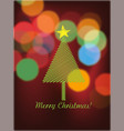 christmas tree and bokeh lights vector image vector image