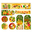 cinco de mayo mexican holiday fiesta tags vector image vector image
