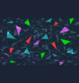 colored triangular background vector image
