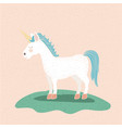 colorful background with unicorn of mane and tail vector image