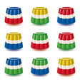 colorful gelatin jelly or pudding assortment vector image