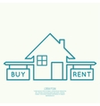 Concept of choice between buying and tenancy vector image